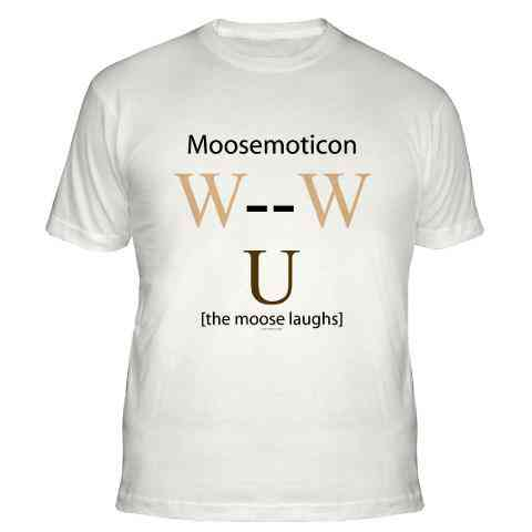 moosemoticon t-thirt