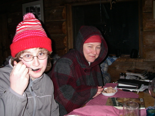Aly and Michelle go to great lengths to enjoy ice cream, March 2007
