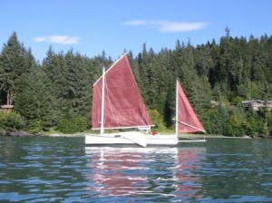 Our Boat, SELKIE in happier times and climes, before she disappeared November 6, 2009