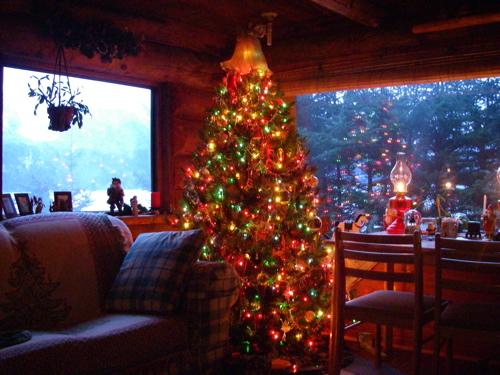 """Livin' around the Christmas Tree . . ."" The big artificial tree, 2006."