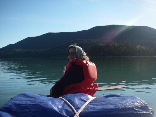 Hauling via canoe 2006.