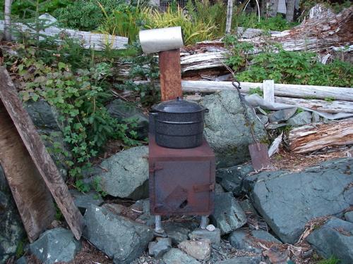 beach stove