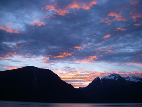 Haines sunrise