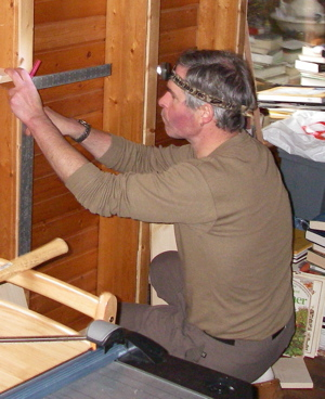 working while using a headlamp