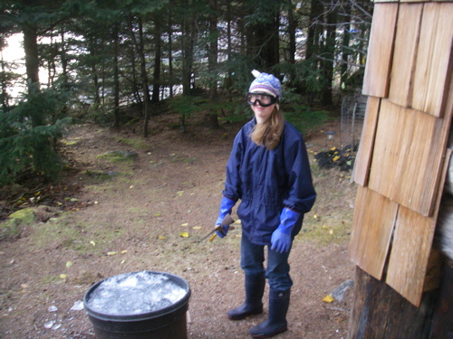 Aly geared up for breaking ice