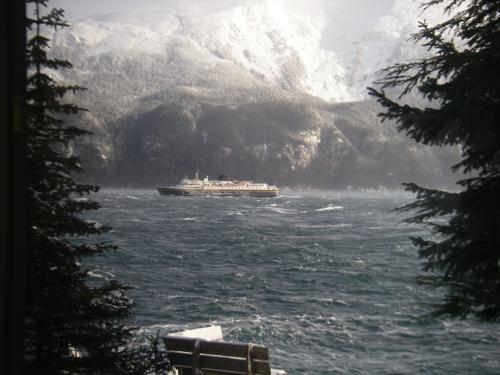 Alaska State Ferry in Lynn Canal
