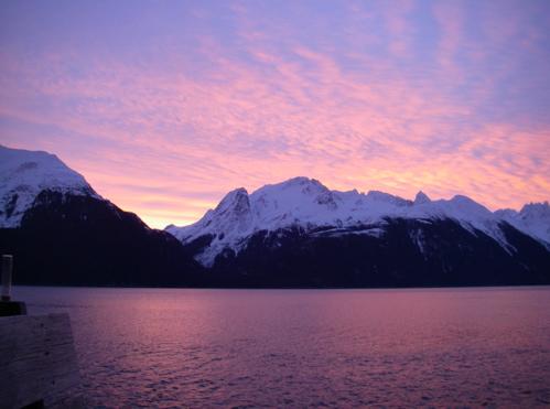 Sunrise over LC Mountain