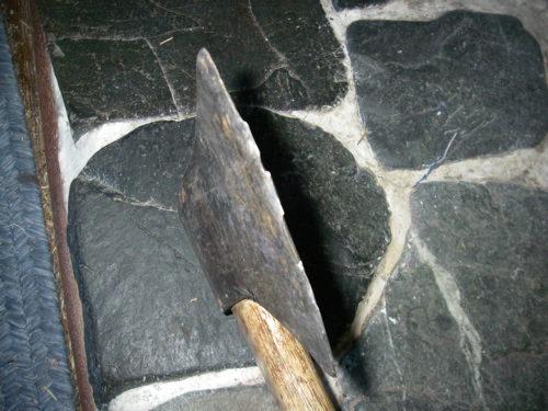 warped ax head
