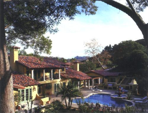 stock photo Tuscan villa