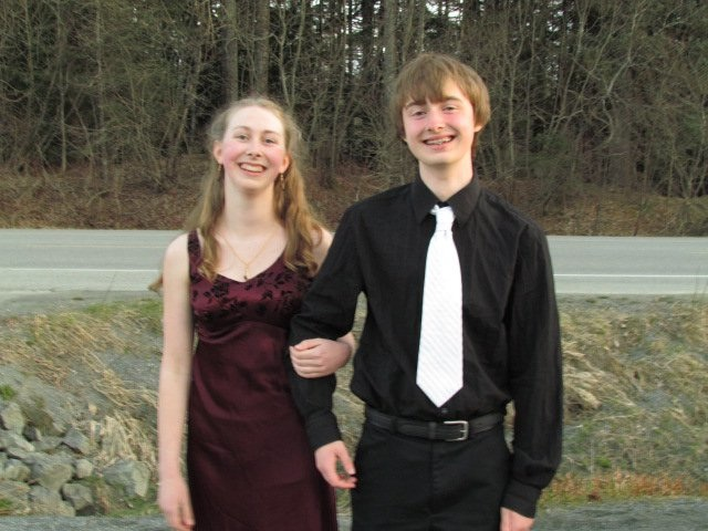 Aly and her date, Zack