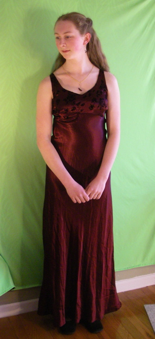 Aly in her prom dress