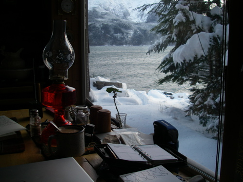 View from the homestead window, November 17, 2011