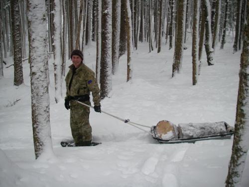 pulk hauling sled