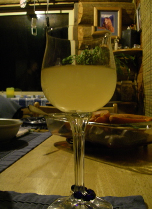 """a glass of """"raisin riesling"""""""