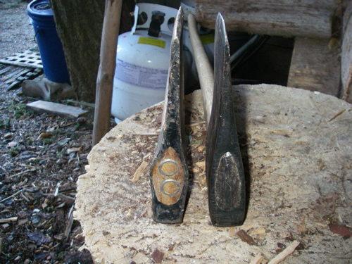 a pair of ax heads