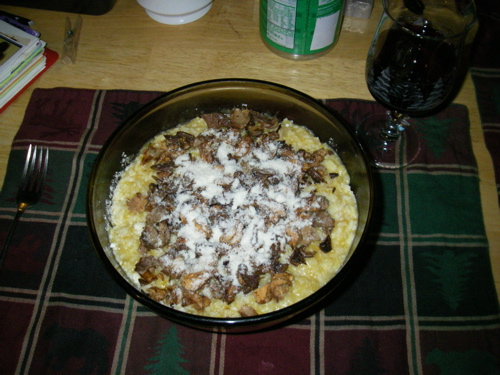 Pumpkin Risotto with Wild Mushrooms
