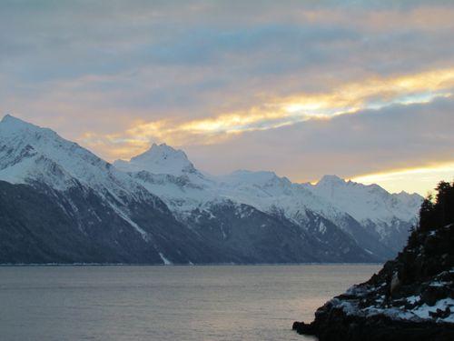 The Winter Solstice on Lynn Canal, Alaska, 2013 (Photo: Mark A. Zeiger).