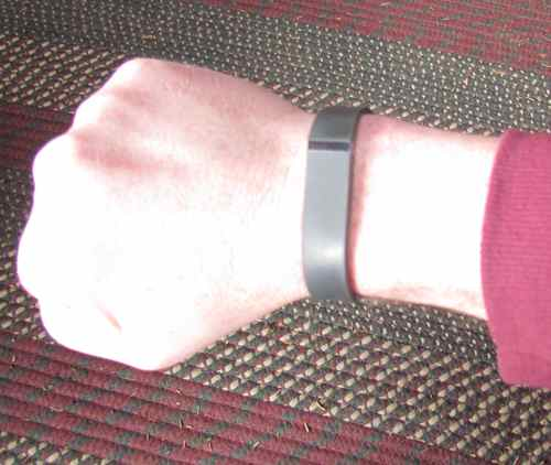 Mark's Fitbit Flex (Photo: Mark A. Zeiger).