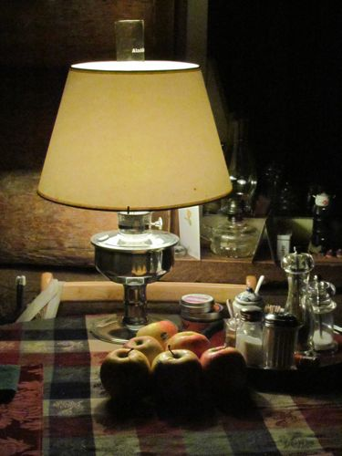 Our new/used Aladdin lamp (no flash, exposure is all lamp light). (Photo: Mark A. Zeiger.)