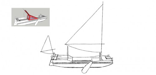 One of Triloboat's newest designs: SANDBOX (Artwork: David W. Zeiger).