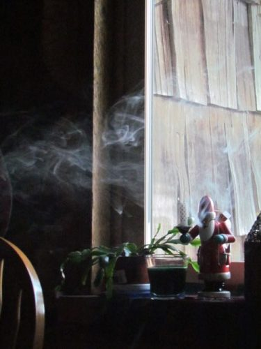 """""""...and the smoke encircled his head like a wreath..."""" (Photo: Mark A. Zeiger)."""