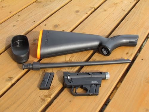 Henry AR 7 Survival Rifle disassembled