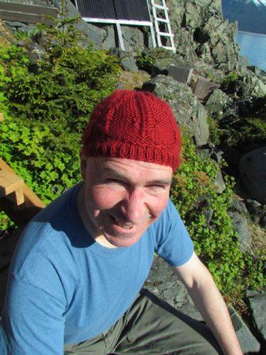 Hannah Ingalls Mason's trilobite knit cap