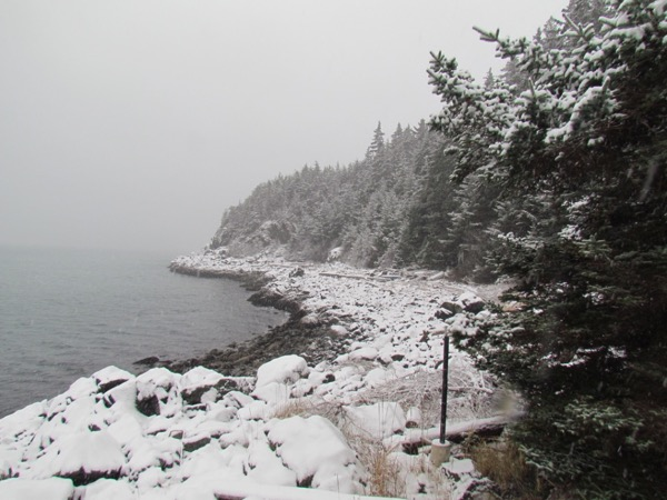 Mud Bay Peninsula in snow