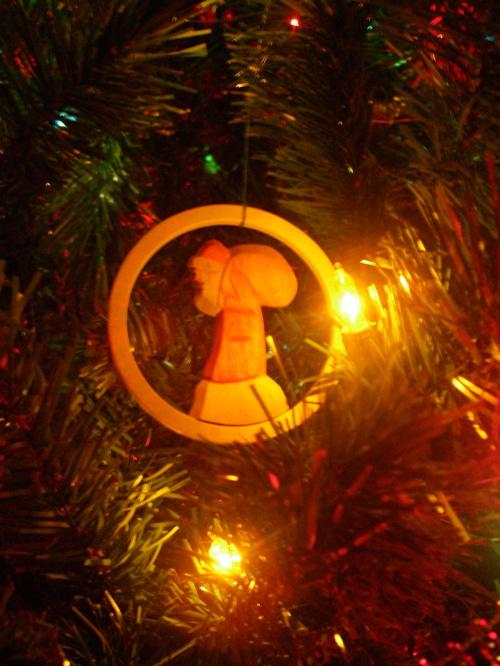 weary Santa ornament