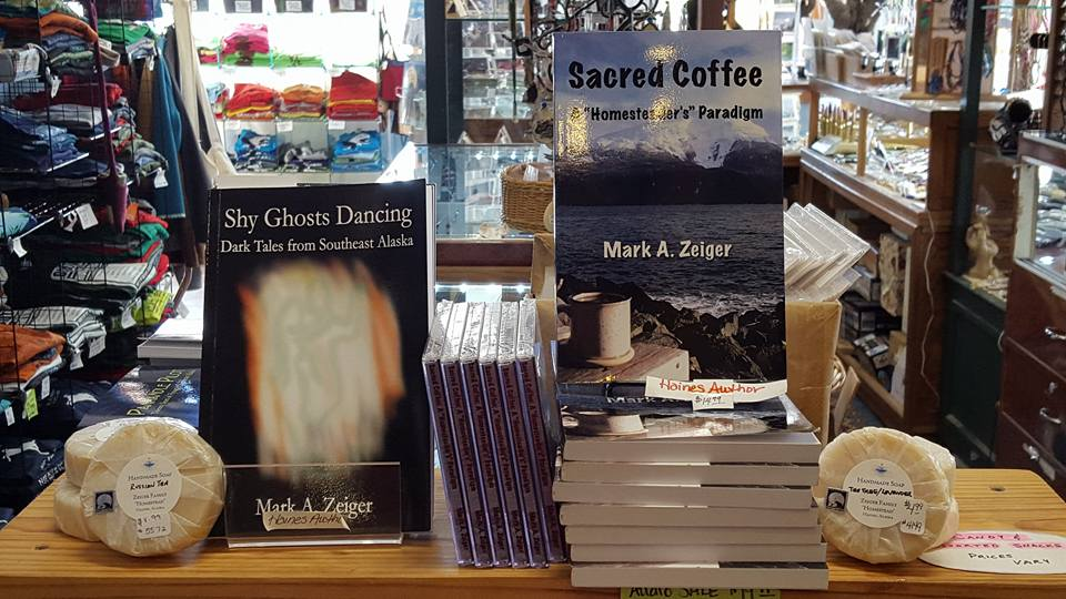 Mark Zeiger's books and soap at Alaska Rod's