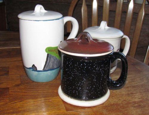 mugs and lids