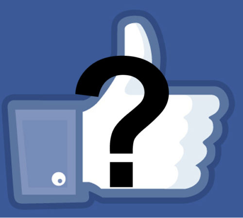 Facebook LIKE symbol with question mark