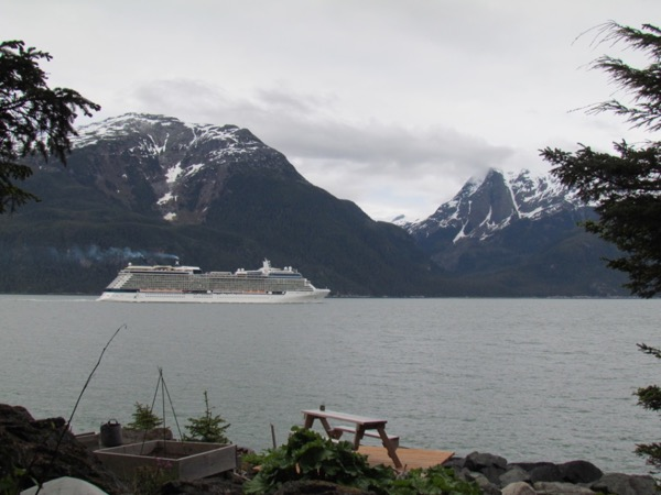 Celebrity Solstice in Lynn Canal