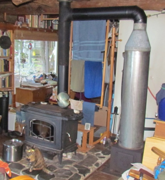 wood-fired hot water heater