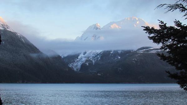 Sun on the Coast Range Haines Alaska